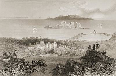 Dublin Drawing - Howth Castle, Howth, County Dublin by Vintage Design Pics