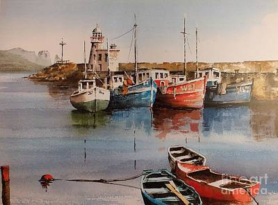 Painting - Howth Harbour Dublin by Val Byrne