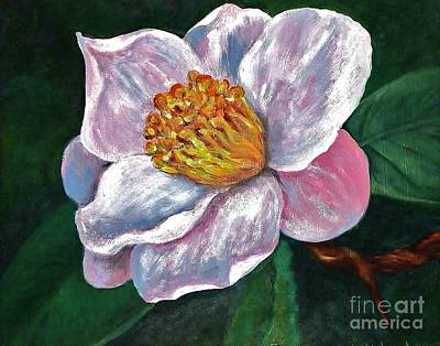 Hoyt Flower Oil 2 Art Print by Emily Michaud