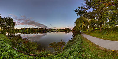 Photograph - Hoyt Lake Autumn Twilight by Chris Bordeleau