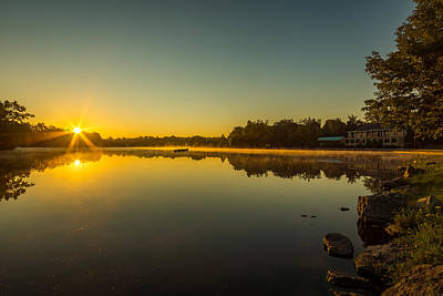 Photograph - Hoyt Lake Sunrise Clear Skies N2 by Chris Bordeleau