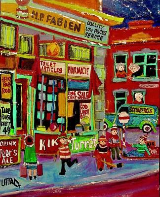 Painting - H.p. Fabien Pharmacie Wellington And Desmarchais Verdun by Michael Litvack