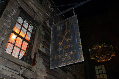 Photograph - Locksmith Sign Diagon Alley by David Lee Thompson