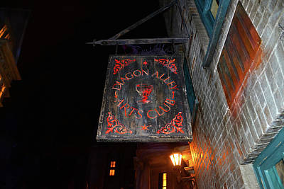 Photograph - Diagon Alley Arts Club Sign by David Lee Thompson