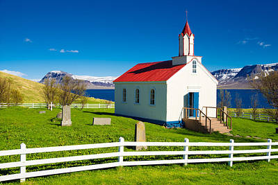 Photograph - Hrafnseyri Church In Iceland by Matthias Hauser