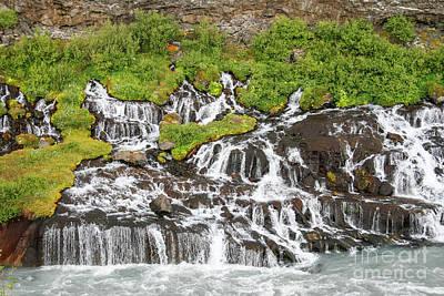 Photograph - Hraunfossar, Borgarfjordur, Iceland.   by Patricia Hofmeester