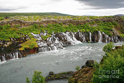 Photograph - Hraunfossar, Borgarfjordur, Iceland.l by Patricia Hofmeester