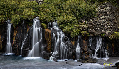 Photograph - Hraunfossar In The Gloom by Rikk Flohr