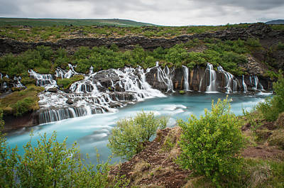 Photograph - Hraunfossar by Michelle Lee