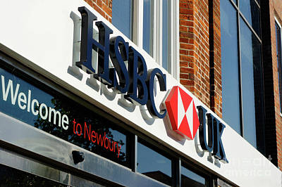 Photograph - Hsbc Bank Newbury by Tom Gowanlock