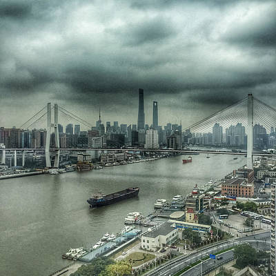 Photograph - Huang Pu River Shanghai by Frank Mari