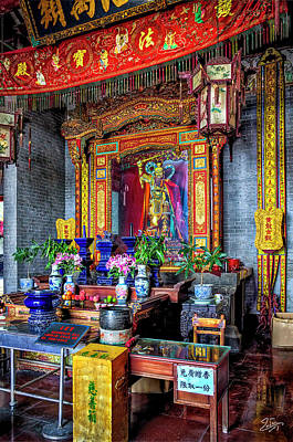 Photograph - Huanglong Temple Altar by Endre Balogh