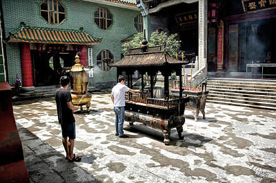 Photograph - Huanglong Temple Inner Courtyard by Endre Balogh