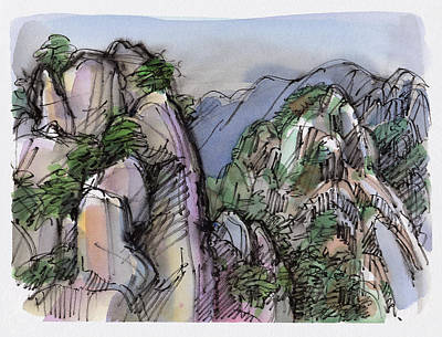 Painting - Huangshan, China by Judith Kunzle