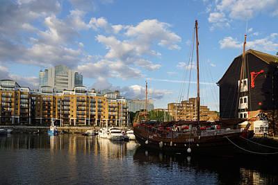 Photograph - Huantian - Chinese Junk Sailing Vessel At St Katharine Docks London U K by Georgia Mizuleva