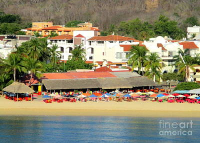 Photograph - Huatulco Beach 2 by Randall Weidner