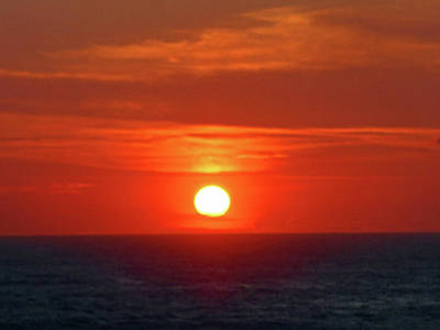 Photograph - Huatulco Sunsets 1 by Ron Kandt