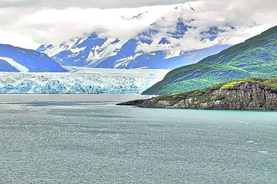 Photograph - Hubbard Glacier And Mountains by Kirsten Giving