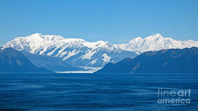 Photograph - Hubbard Glacier. Yakutat Bay Seascapes by Connie Fox