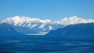 Photograph - Hubbard Glacier. Yakutat Bay Seascapes by Connie Fox