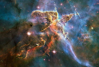 High Quality Images Photograph - Hubble Captures Spectacular Landscape In The Carina Nebula by Nasa