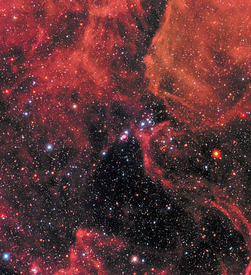 Supernovae Photograph - Hubble Captures Wide View Of Supernova 1987a by Nasa