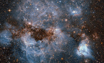 Photograph - Hubble Peers Into The Storm by NASA and the European Space Agency