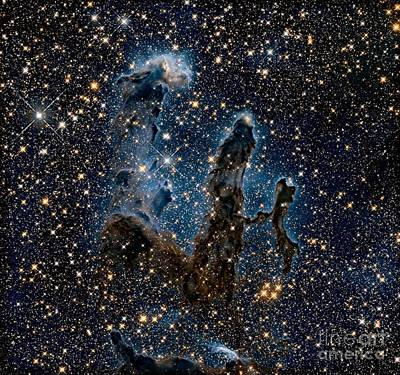 Stars Painting - Hubble Revisits The Iconic Pillars Of Creation by MotionAge Designs