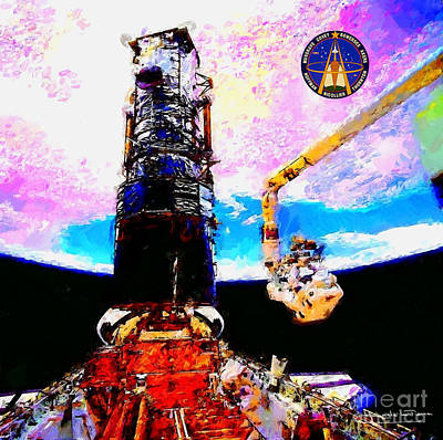 Art Gallery Painting - Hubble Space Telescope Servicing Mission  by Art Gallery