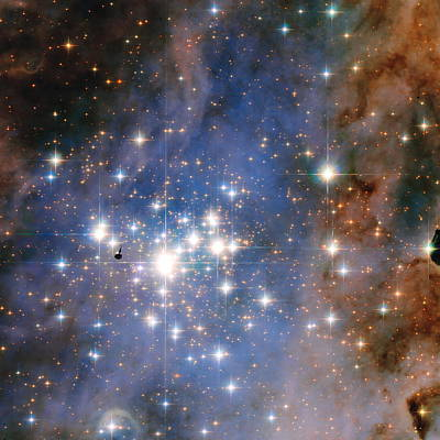 Hubble Unveils A Tapestry Of Dazzling Diamond-like Stars Print by Nasa