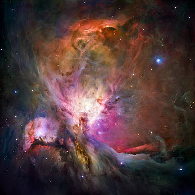 Colorful Contemporary Photograph - Hubble's Sharpest View Of The Orion Nebula by Adam Romanowicz
