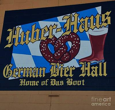 Stylized Beverage Photograph - Huber Haus Mural, Omaha by Poet's Eye