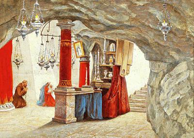 Painting - Hubert Sattler Milk Grotto 1911 by Munir Alawi