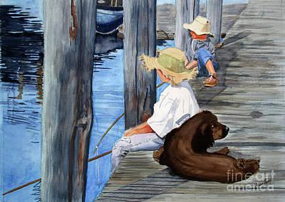 Huckleberry Boys Art Print by Barry Levy