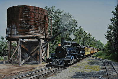 Painting - Huckleberry Railroad by Vicky Path