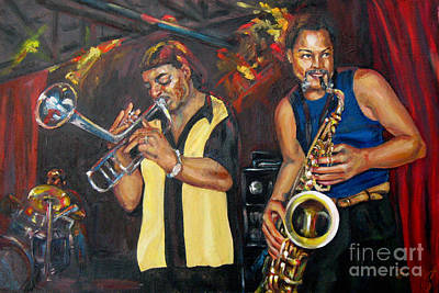 Painting - Hud N Lew/ The Daddyo Brothers by Beverly Boulet