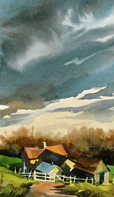 Painting - Huddled Before The Storm by Art Scholz