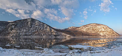 Photograph - Hudson Highlands Winter Morning Panorama Three by Angelo Marcialis