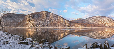 Photograph - Hudson Highlands Winter Morning Panorama Two by Angelo Marcialis