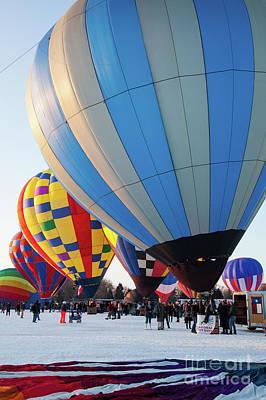 Photograph - Hudson Hot Air Balloon Festival 2018 All Lined Up by Wayne Moran