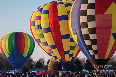Photograph - Hudson Hot Air Balloon Festival 2018 Just Wow by Wayne Moran