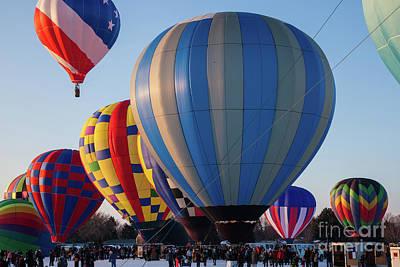 Photograph - Hudson Hot Air Balloon Festival 2018 Perfect Launch by Wayne Moran