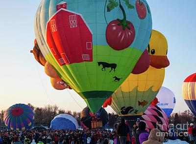 Photograph - Hudson Hot Air Balloon Festival 2018 The Farm by Wayne Moran