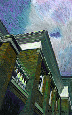 Painting - Hudson Library by Mary C Haneline