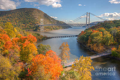 Hudson River And Bridges Art Print