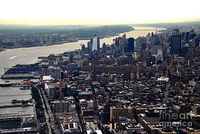 Photograph - Hudson River And Manhattan by Jacqueline M Lewis