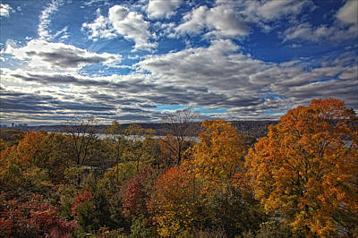 Hudson River And New Jersey Palisades From Wave Hill 2 Art Print