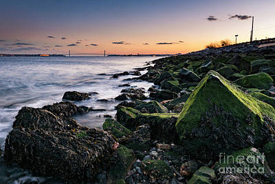 Photograph - Hudson River And Verrazano-narrows Bridge by Zawhaus Photography