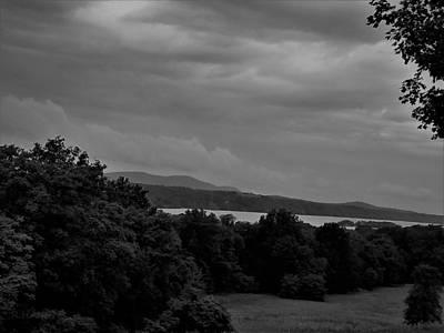Photograph - Hudson River At Hyde Park1 B W by Rob Hans