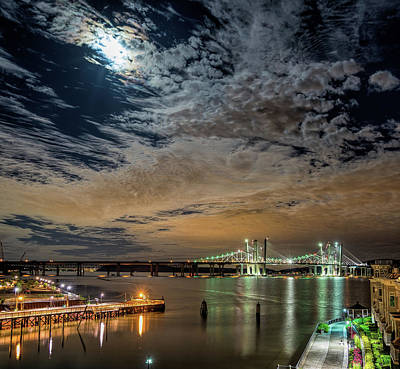 Photograph - Hudson River Illumination  by Jeffrey Friedkin
